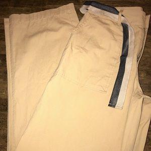 Who What Wear Pocket Wide Leg Cotton Pants